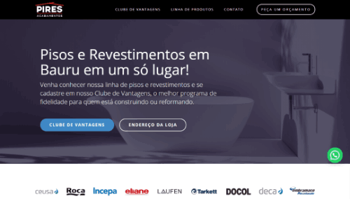 Site institucional Pires Acabamentos WEB.2K