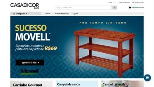 Site de comércio eletrônico e loja virtual Casa Dicor