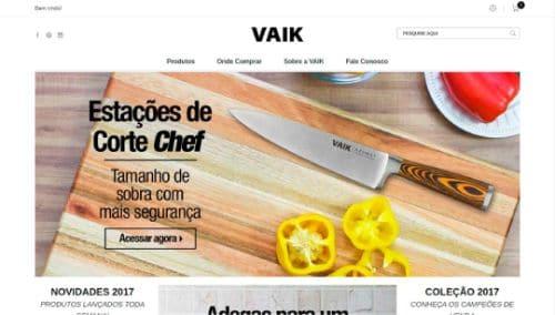 Site de eCommerce Para VAIK
