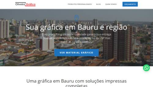 Site institucional Oliveira Gráfica Bauru SP