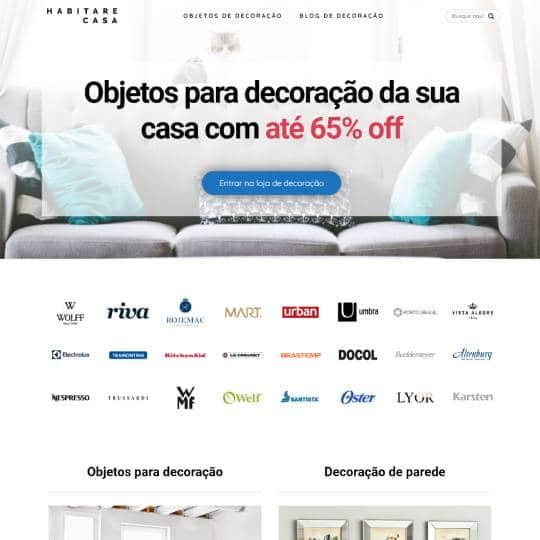 Site eCommerce Habitare Casa e Decoração