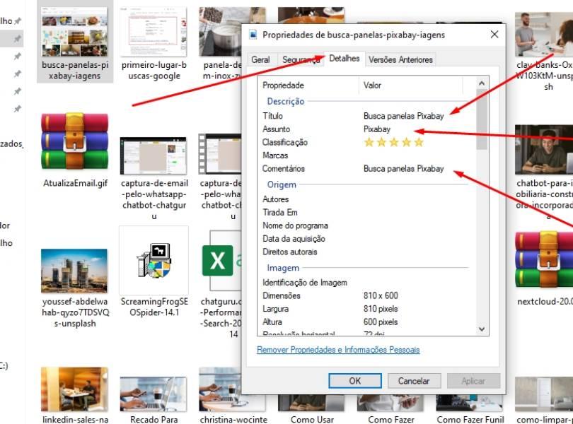 Otimização de arquivo de imagens para SEO